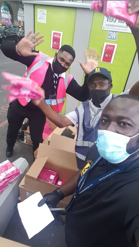 Our team at SES distributing 3000 bibs nationwide