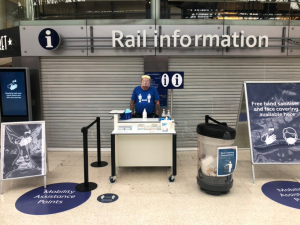 SES Group help provide Information and Cleaning Stations for Network Rail